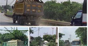 Hà Nội: Xe quá tải mặc sức tung hoành trên tuyến đường vào cảng Khuyến Lương