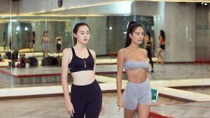 Người mẫu lai Như Vân nóng bỏng, thị phạm catwalk cho hai á hậu