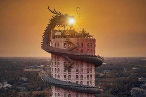 Bí ẩn đằng sau ngôi chùa hồng có rồng khổng lồ quấn quanh