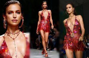 Irina Shayk khoe trọn vẻ nóng bỏng với váy ngắn xẻ sâu