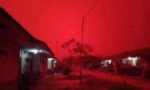 Hãi hùng bầu trời Indonesia đỏ như máu vì cháy rừng