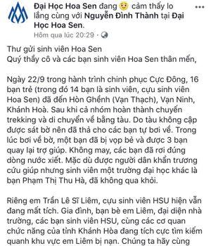 Bức tâm thư cảm động của Hiệu trưởng Trường đại học Hoa Sen gửi sinh viên gặp nạn