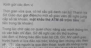 Khởi tố vụ án mạo danh lãnh đạo lừa tiền nhiều nữ giáo viên tại Quảng Trị