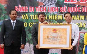Địa điểm diễn ra cuộc đấu tranh Cây Cốc được công nhận Di tích quốc gia