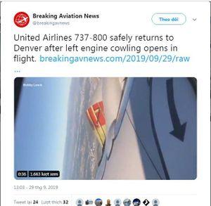 Kinh hoàng máy bay bung nắp động cơ khi đang bay