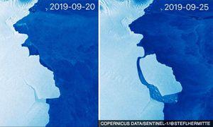Tảng băng lớn bằng London ở 'chiếc răng lung lay' tách khỏi Nam Cực