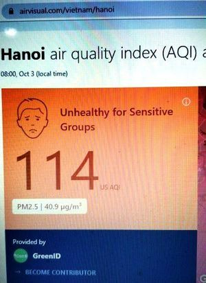 Sáng nay, Hà Nội bớt ô nhiễm, bụi mịn PM 2.5 giảm