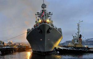 Soi 'độ khủng' chiến hạm Nga đang tập trận quy mô lớn ngoài khơi Syria
