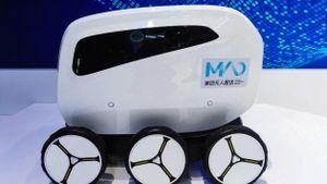 Robot sẽ thay con người giao đồ ăn đến tận cửa nhà