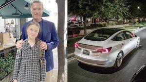 Cựu Thống đốc California tặng xe điện Tesla cho nữ sinh Thunberg
