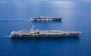 Nhóm tác chiến tàu sân bay Mỹ huấn luyện trên Biển Đông
