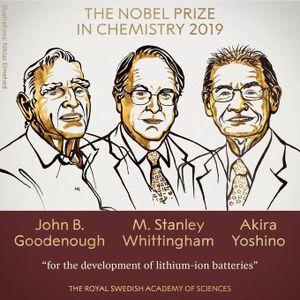 Giải Nobel Hóa học 2019 được trao cho công trình phát triển pin lithium-ion