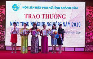 3 tập thể và 4 cá nhân được trao thưởng 'Ngày Phụ nữ khởi nghiệp' năm 2019