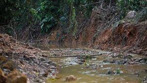 Ô nhiễm nước sông Đà: Súc rửa bể xả thẳng ra suối