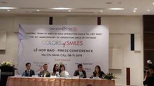 Nhiều hoạt động vì trẻ em của Operation Smile