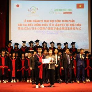 Sinh viên điều dưỡng trường Cao đẳng Y Dược ASEAN nhận học bổng toàn phần từ Nhật Bản