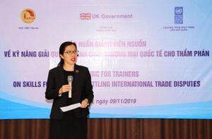 Tập huấn kỹ năng giải quyết tranh chấp thương mại quốc tế cho Thẩm phán