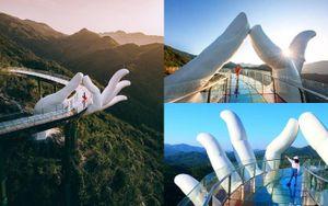 Cận cảnh cây cầu bàn tay Phật ngọc tại Trung Quốc được ví như 'bản sao' Cầu Vàng ở Đà Nẵng