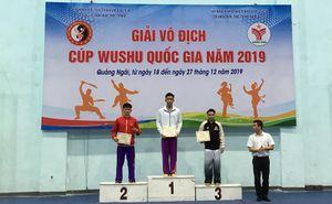 Quảng Ninh giành 4 HCV tại Giải vô địch Wushu cúp quốc gia năm 2019
