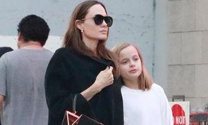 Angelina Jolie mộc mạc ra phố đi mua sắm cùng con gái cưng dịp đầu năm
