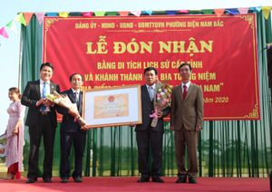 Khánh thành khu Di tích lịch sử 'Địa điểm trận đánh của 7 dũng sĩ Điện Nam'