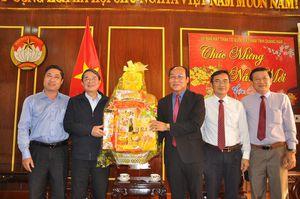 Chủ nhiệm Ủy ban Tài chính - Ngân sách Quốc hội Nguyễn Đức Hải thăm và chúc Tết Mặt trận Quảng Nam