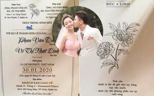 Lộ ảnh thiệp cưới Phan Văn Đức, thông điệp bên trong mới là điều đặc biệt