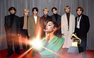 Sau bức ảnh 'gây bão', BTS chia sẻ mong muốn hợp tác với Ariana Grande ngay tại Grammy
