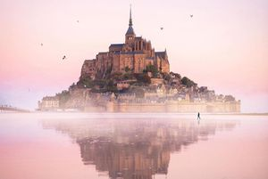 Lâu đài cổ kính nổi giữa mặt nước ở Pháp