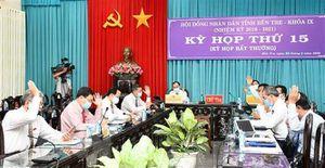 HĐND tỉnh Bến Tre họp trực tuyến, thông qua 11 nghị quyết quan trọng