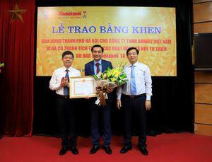 Amway Việt Nam vinh dự nhận bằng khen của UBND Thành phố Hà Nội và UBND tỉnh Lạng Sơn