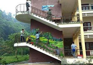 Nhóm họa sĩ Bắc Kạn vẽ tranh miễn phí