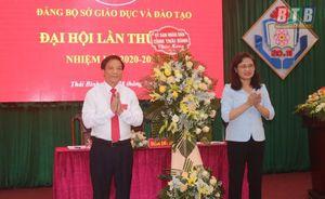 Đại hội Đại biểu Đảng bộ Sở Giáo dục và Đào tạo Thái Bình thành công tốt đẹp
