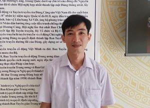 Bạn Nguyễn Văn Duẩn đoạt giải Nhất Cuộc thi tuần 11 tìm hiểu truyền thống ngành Tuyên giáo