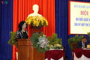 Trưởng Ban Dân vận T.Ư Trương Thị Mai tiếp xúc cử tri Đà Lạt