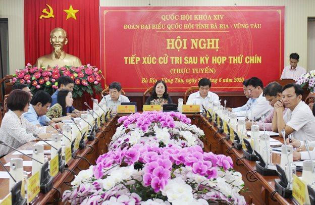 Bà Rịa – Vũng Tàu tiếp xúc cử tri sau Kỳ họp thứ 9, Quốc hội khóa XIV