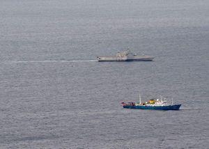 Tàu chiến Mỹ áp sát tàu thăm dò của Trung Quốc ở Biển Đông