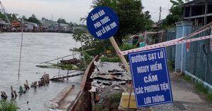 Sạt lở bủa vây dọc sông Hậu qua An Giang