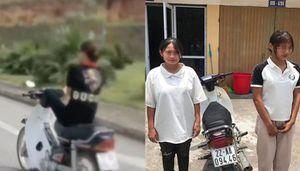 Khoe lái xe máy bằng chân trên mạng xã hội, nữ sinh bị xử lý