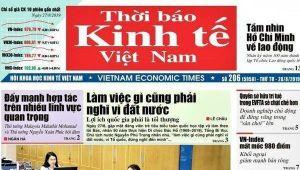 Yêu cầu chuyển đổi đúng hình thức pháp nhân của 'Thời báo Kinh tế Việt Nam'