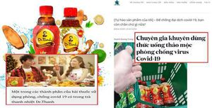 Quảng cáo trà thảo mộc Dr. Thanh ngừa Covid-19: 'Gây nhầm lẫn, khiến người dân lơ là phòng dịch'