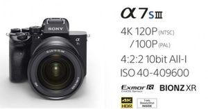 Máy ảnh Sony Alpha 7S III quay phim 4K, kính ngắm OLED Quad-XGA
