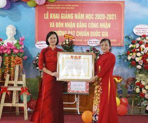 Tuyên Quang: Các Trường Mầm non Hoa Mai & Tiểu học Thị trấn Na Hang khai giảng năm học mới