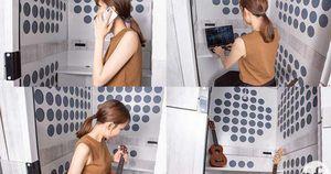 Với căn phòng cách âm siêu nhỏ gọn này của người Nhật, bạn sẽ có không gian làm việc vô cùng thoải mái và hiệu quả