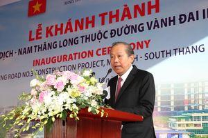 Phó Thủ tướng Thường trực dự Lễ khánh thành cầu cạn Mai Dịch – Nam Thăng Long