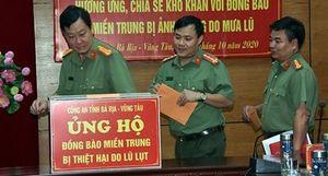 Công an tỉnh Bà Rịa – Vũng Tàu chia sẻ khó khăn với đồng bào miền Trung