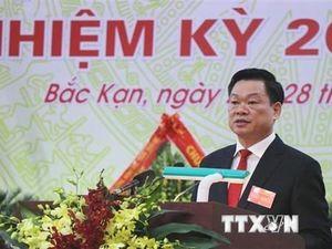 Ông Hoàng Duy Chinh được bầu giữ chức Bí thư Tỉnh ủy Bắc Kạn nhiệm kỳ 2020-2025