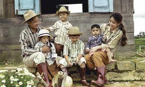 Tan chảy trước bộ ảnh 'gia đình nông dân' cực chất của Thành Đạt - Hải Băng
