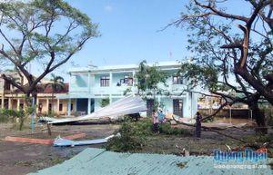 Nhiều cơ quan, đơn vị: Khẩn trương khắc phục hậu quả sau bão