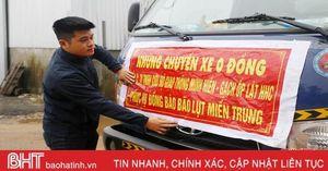 Chàng trai Hà Tĩnh miệt mài trên 'chuyến xe 0 đồng' cứu trợ lũ lụt ở miền Trung